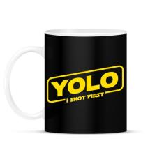 PRINTFASHION Yolo - Bögre - Fekete ajándéktárgy