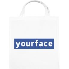 PRINTFASHION yourface - Vászontáska - Fehér