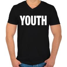 PRINTFASHION YOUTH - Férfi V-nyakú póló - Fekete
