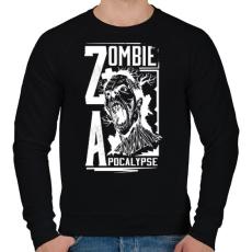 PRINTFASHION Zombi apokalipszis - Férfi pulóver - Fekete