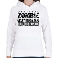 PRINTFASHION Zombi apokalipszis - Női kapucnis pulóver - Fehér
