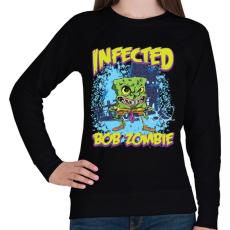 PRINTFASHION Zombi Bob - Női pulóver - Fekete