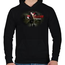 PRINTFASHION Zombie_Attack - Férfi kapucnis pulóver - Fekete