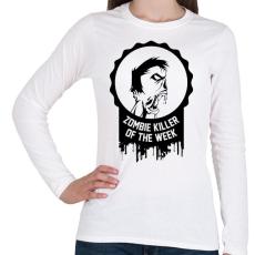 PRINTFASHION Zombie killer of the week - Női hosszú ujjú póló - Fehér