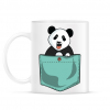 PRINTFASHION ZSEB-Panda - Bögre - Fehér