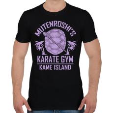 PRINTFASHION Zseniális teknős karate suli - Férfi póló - Fekete