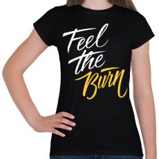 PRINTFASHION Zsírégetés - Női póló - Fekete