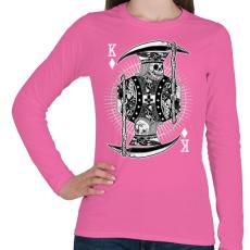 PRINTFASHION Zsugakirály - Női hosszú ujjú póló - Rózsaszín