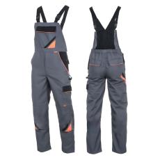 Professional-M-Grey Téli Munkavédelmi Mellesnadrág, Minőség: 5x***** (Kiváló minőségű 320g/m,65%)