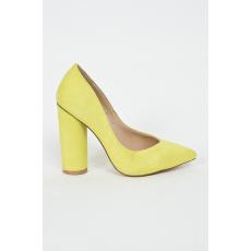 Public Desire Sarkas cipő - barnás- zöld