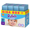 Pufies Sensitive Pelenka, 4+ Maxi +, Monthly Box, 9-16 kg, 156 darab
