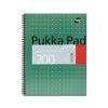 """Pukka pad Spirálfüzet, A4+, kockás, 100 lap, PUKKA PAD, """"Metallic Jotta"""""""