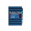Pukka pad Spirálfüzet, A4, kockás, 100 lap, PUKKA PAD,  Navy project book , kék