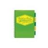 Pukka pad Spirálfüzet, A4, kockás, 100 lap, PUKKA PAD Neon project book, zöld