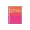Pukka pad Spirálfüzet, A4+, vonalas, 100 lap, PUKKA PAD, Bright, narancssárga-rózsaszín