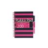"""Pukka pad Spirálfüzet, A5, kockás, 100 lap, PUKKA PAD, """"Navy project book"""", rózsaszín"""