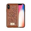 Puloka Glitter prémium hátlaptok Apple iPhone X, barna