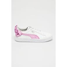 Puma - Gyerek cipő Basket Bow Patent - fehér - 1387333-fehér
