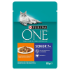 Purina One 6x85g Purina ONE Senior 7+ nedves kutyatáp-csirke/zöldbab
