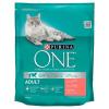 Purina One Adult Cat lazacban és teljes kiőrlésű gabonákban gazdag száraz macskaeledel 800 g