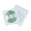Q-CONNECT CD/DVD tároló tok CONNECT öntapadó ráhajtható lezáró füllel átlátszó ablakkal