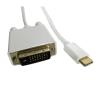 Qoltec DisplayPort Alternate mode | USB 3.1 type C male | DVI male | 4Kx2K | 2m