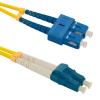 Qoltec Optic Patchcord SC/UPC-LC/UPC SM 9/125 G652D 1m optikai kábel
