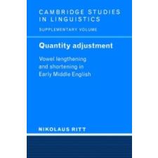 Quantity Adjustment – Nikolaus Ritt idegen nyelvű könyv