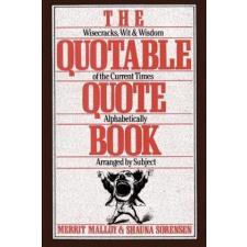 Quotable Quote Book – Merrit Malloy idegen nyelvű könyv