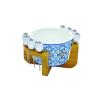 R2S .850MAIB Porcelán tálka 16cm 8 olivanyárssal, Maiolica Blue
