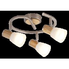 RÁBALUX Rábalux 6488 Gavin Fa betétes spot E14 3X40W, szatén króm/bükkfa világítás