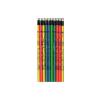 Radíros ceruza, dobos mintával, neon színekben