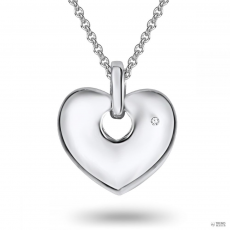 RafaelaDonata Lánc nyaklánc kiegészítőszív Sterling ezüst Diamant