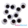 Ragasztható mozgó szemek 10 darabos készlet - 15 mm