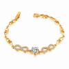Ragyogj.hu Álomszép végtelen - exkluzív cirkóniaköves karkötő 18 cm - fehér, arany