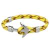Ragyogj.hu Anchorissime - horgony karkötő - ezüst- sárga mintás kötéllel