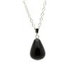 Ragyogj.hu Csepp alakú természetes kőből készült nyaklánc - fekete