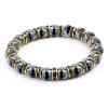 Ragyogj.hu Csillogás - természetes kőből fűzött ásványkarkötő kristályrondellákkal - fekete