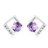 Ragyogj.hu Dewdrop - Swarovski kristályos fülbevaló - lila