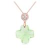 Ragyogj.hu Diana- Swarovski kristályos ezüst nyaklánc-zöld