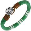 Ragyogj.hu Érme - bőrből és kötélből készült karkötő - zöld, fehér