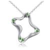 Ragyogj.hu Geometric - Swarovski kristályos nyaklánc - zöld