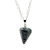 Ragyogj.hu Gúla alakú természetes kőből készült nyaklánc - fekete-fehér