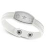 Ragyogj.hu Hófehér csillagok - acél karkötő
