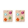 Ragyogj.hu Kristályos négyzet -színes- Swarovski kristályos fülbevaló