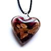 Ragyogj.hu Muránói üveg medál, szív alakú - lila