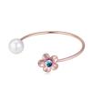 Ragyogj.hu Pearl and flower- arany- Swarovski kristályos - Karperec- kék