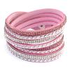 Ragyogj.hu PUNKY  valódi bőr divat karkötő és nyaklánc egyben - rózsaszín