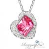 Ragyogj.hu - Swarovski Coeur- rózsaszín- Swarovski kristályos nyaklánc
