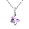 Ragyogj.hu - Swarovski Flower- lila- Swarovski kristályos nyaklánc